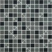 Мозаика Born Black черная (на сетке)