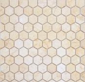 Мозаика LeeDo Pietrine Hexagonal Botticino матовая 28,5x30,5х0,6 см (чип 18х30х6 мм)