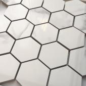 Мозаика LeeDo Calacatta POL 26,7x30,8 см (чип 37x64 мм гексагон), полированный керамогранит