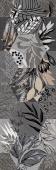 Вставка Cemento Vetro Grey W\DEC P 25x75 NR Mat 1