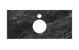 Спец. декоративное изделие для накладных раковин 100 см Риальто темный серый лаппатированный