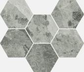 Шарм Экстра Силвер мозаика гексагон 25*29 керамогранит