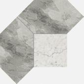 Шарм Экстра Силвер мозаика Полигон 28,5*21 керамогранит