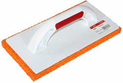 Пластмассовая тёрка с резиновой губкой для мытья плитки после затирок