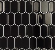 Мозаика LeeDo Candylike Crayon Black glos 27,8x30,4x0,8 см (чип 38x76x8 мм) глянцевая