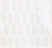 Мозаика LeeDo Candylike Crayon White glos 27,8x30,4x0,8 см (чип 38x76x8 мм) глянцевая