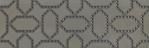 Декор Раваль обрезной 30х89,5 серый