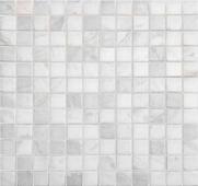 Dolomiti bianco полированная 23x23x4 мм (лист 29,8х29,8 см)
