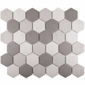 Кер. мозаика Hexagon small Grey Mix Antislip. (JMT55221) 325х282х6