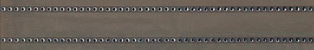Бордюр Раваль обрезной 14,5х89,5х11 коричневый