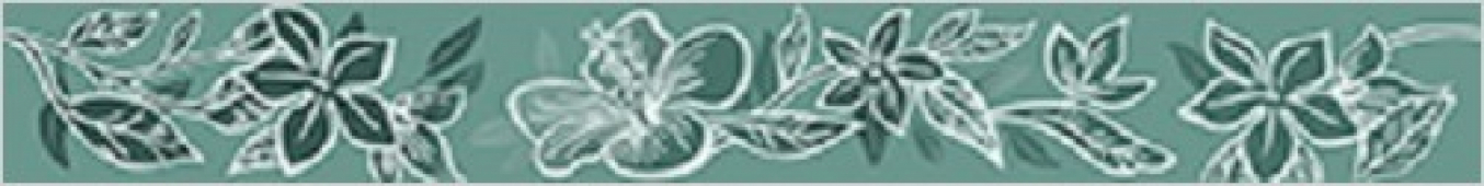 Бордюр настенный Lst. Elissa Mare Fiore 1C 50,5*6,2