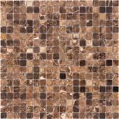 Emperador Dark полированная 15x15x4 мм (лист 30,5х30,2 см)