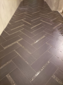 Мозаика CARAMELLE Pietrine Emperador Dark полированная 30,5x30,5х0,4 см (чип 15x15x4 мм)