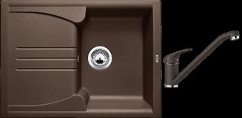 Комплект ENOS 40 S SILGRANIT кофе + DARAS кофе BLANCO 515080D2