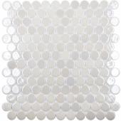 Мозаика Circle № 6000 BR Белый (на сетке)(0,091 м2)