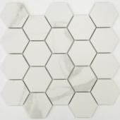 BODE Calacatta Hexagon мозаика полированная (36x64) керамогранит