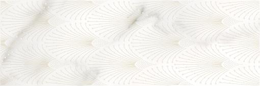 Настенная вставка Meissen Keramik Gatsby  белый 25x75 GT2U051