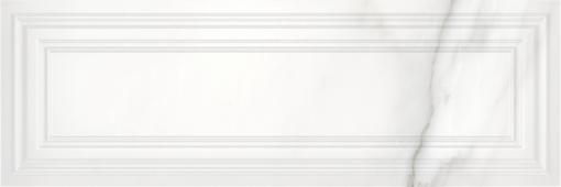 Плитка Meissen Keramik Gatsby  белый рельеф 25x75 GTU052