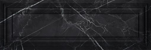 Плитка Meissen Keramik Gatsby  черный рельеф 25x75 GTU232