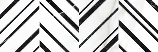 Плитка Meissen Keramik Gatsby  черно-белый 25x75 GTU441