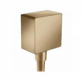 Шланговое подсоединение hansgrohe FixFit Square с клапаном обратного тока 26455140