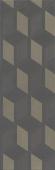 HGD/B428/12144R Морандо серый темный обрезной 25*75 декор