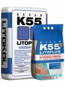 Клей цементный LITOPLUS K55 белый, 25 кг