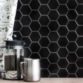 Керамическая мозаика Hexagon small Black Matt (MT83000) 278х265х6
