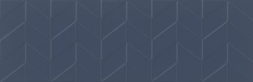 Плитка Meissen Keramik Love You Navy сатинированный синий рельеф 29x89 LYN-WTA032