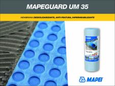 Mapeguard UM 35 MAPEI, мембрана гидроизоляционная и против трещин,  рулон 30 х 1м