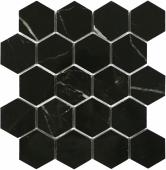 Мозаика LeeDo Marrone oriente POL 26,7x30,8 см (чип 37x64 мм гексагон), полированный керамогранит
