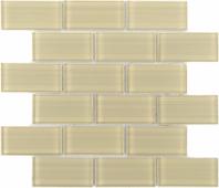 Мозаика CARAMELLE Mattoni Crema 30x30x0,8 см (чип 50х100х8 мм)