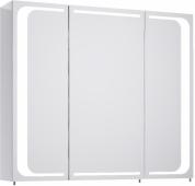 Милан шкаф-зеркало с подсветкой, цвет белый Mil.04.08, 80*70*17
