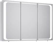 Милан шкаф-зеркало с подсветкой, цвет белый Mil.04.10, 100*70*17