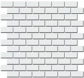 Декор Турнон белый матовый мозаичный 32*30