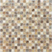Мозаика CARAMELLE Naturelle Amazonas 30,5x30,5х0,8 см (чип 15x15x8 мм)