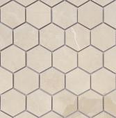 Мозаика LeeDo Nuvola beige POL 26,7x30,8 см (чип 37x64 мм гексагон), полированный керамогранит