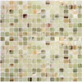 Onice Jade Verde полированная 15x15x7 мм (лист 30,5х30,2 см)