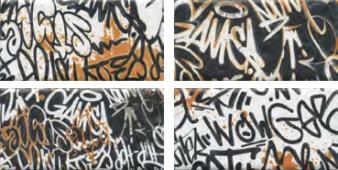 OP/A210/4x/19060 Панно Граффити, панно из 4-х частей 39.6*20
