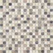 Мозаика CARAMELLE Pietrine Pietra Mix 1 матовая 30,5x30,5х0,4 см (чип 15x15x4 мм)