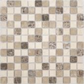 Мозаика CARAMELLE Pietrine Pietra Mix 1 матовая 29,8x29,8x0,4 см (чип 23x23x4 мм)