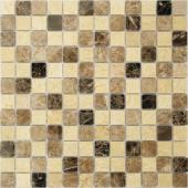 Мозаика CARAMELLE Pietrine Pietra Mix 1 полированная 29,8x29,8x0,4 см (чип 23x23x4 мм)