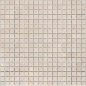 Мозаика CARAMELLE Pietrine Botticino матовая 30,5x30,5х0,4 см (чип 15x15x4 мм)