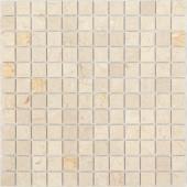 Мозаика CARAMELLE Pietrine Botticino матовая 29,8x29,8x0,4 см (чип 23x23x4 мм)