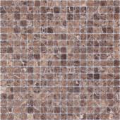 Мозаика LeeDo Pietrine Emperador Dark матовая 30,5x30,5х0,4 см (чип 15x15x4 мм)