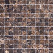 Мозаика CARAMELLE Pietrine Emperador Dark полированная 29,8x29,8x0,4 см (чип 23x23x4 мм)