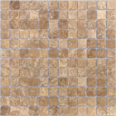 Мозаика CARAMELLE Pietrine Emperador Light полированная 29,8x29,8x0,4 см (чип 23x23x4 мм)