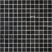 Мозаика CARAMELLE Pietrine Nero Oriente полированная 29,8x29,8х0,7 см (чип 23х23х7 мм)