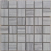 Мозаика LeeDo Pietrine Marmara grey полированная 30,5x30,5x0,7 см (чип 48x48x7 мм)