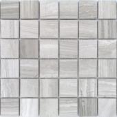 Мозаика LeeDo Pietrine Travertino Silver полированная 30,5x30,5x0,7 см (чип 48x48x7 мм)
